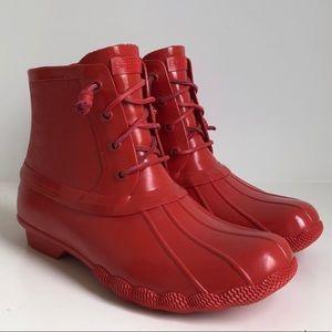 Sperry saltwater rubber rain boot! Never worn!
